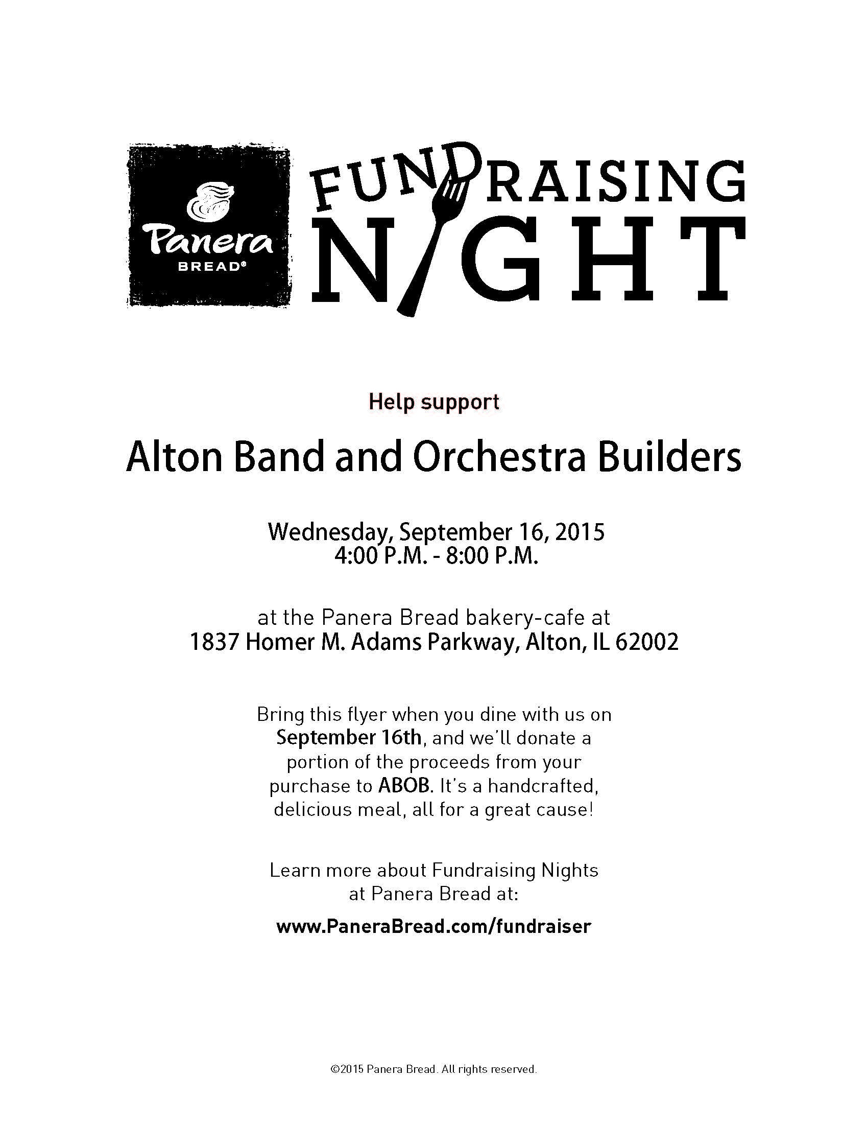 ABOB Fundraiser Night at St. Louis Bread Co. (Panera Bakery)