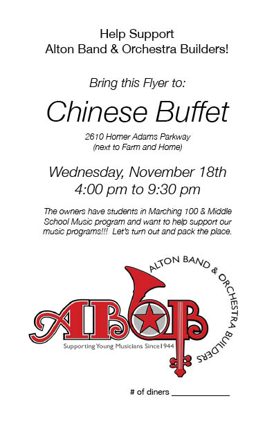 Chinese Buffet ABOB Night