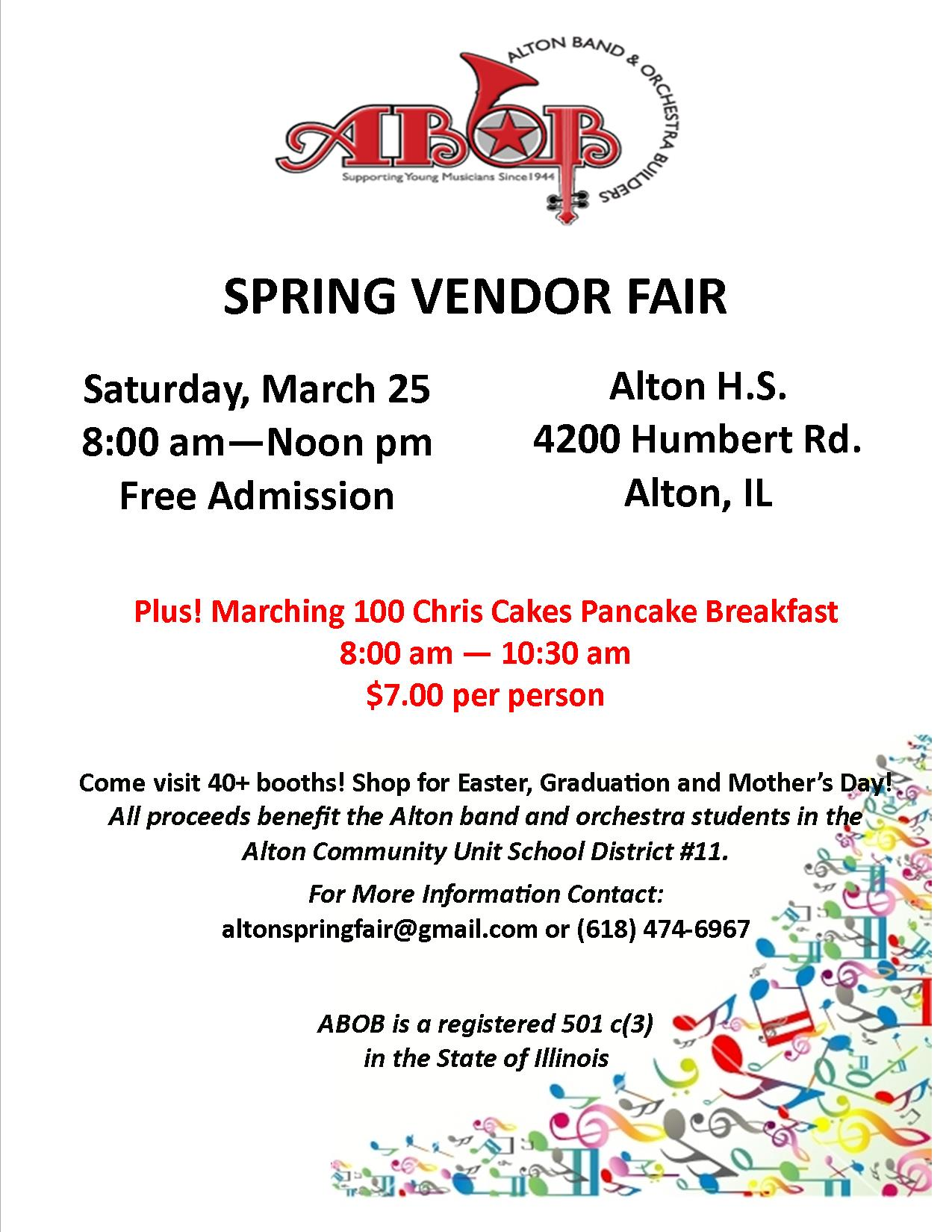 ABOB Spring Vendor Fair Flyer
