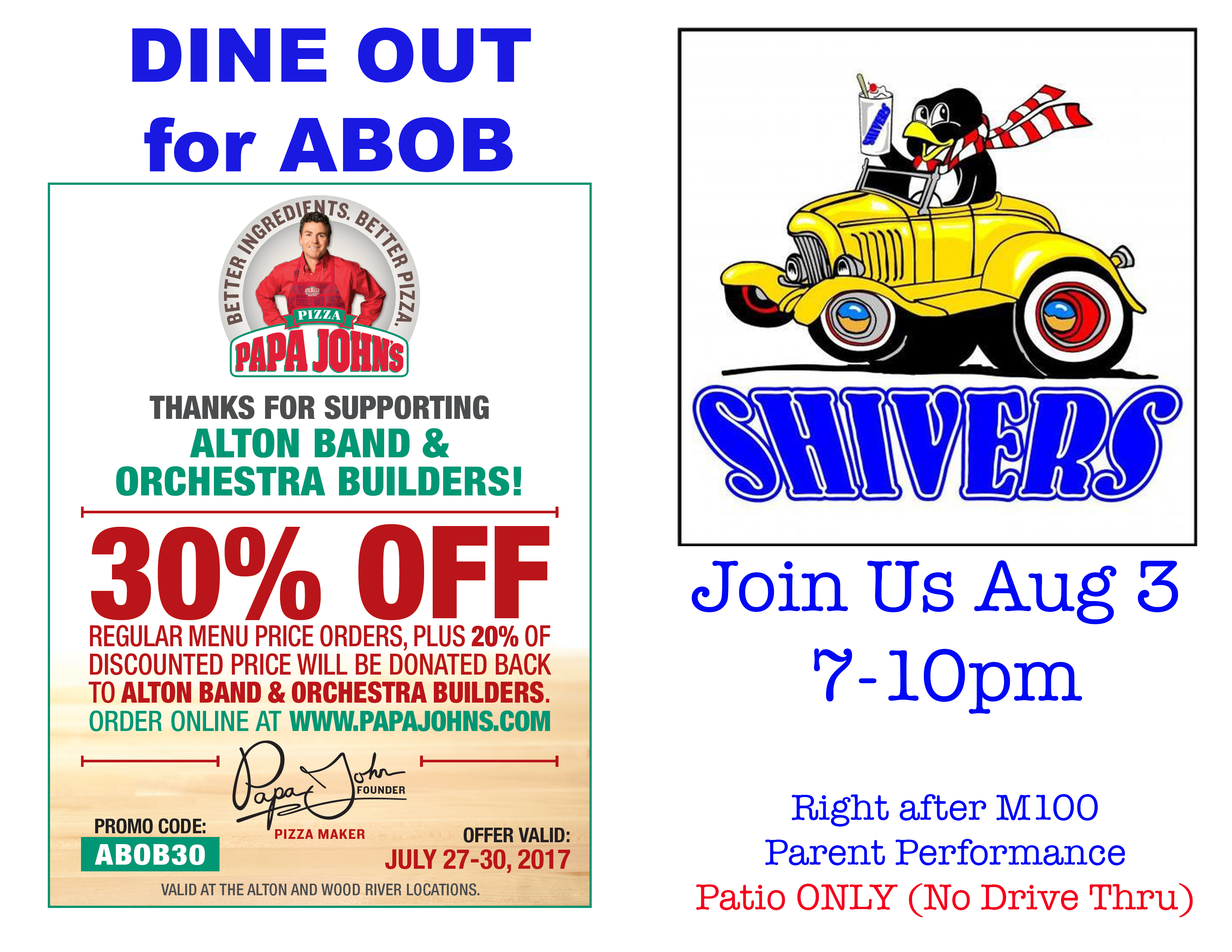 ABOB Dine Out Summer 2017
