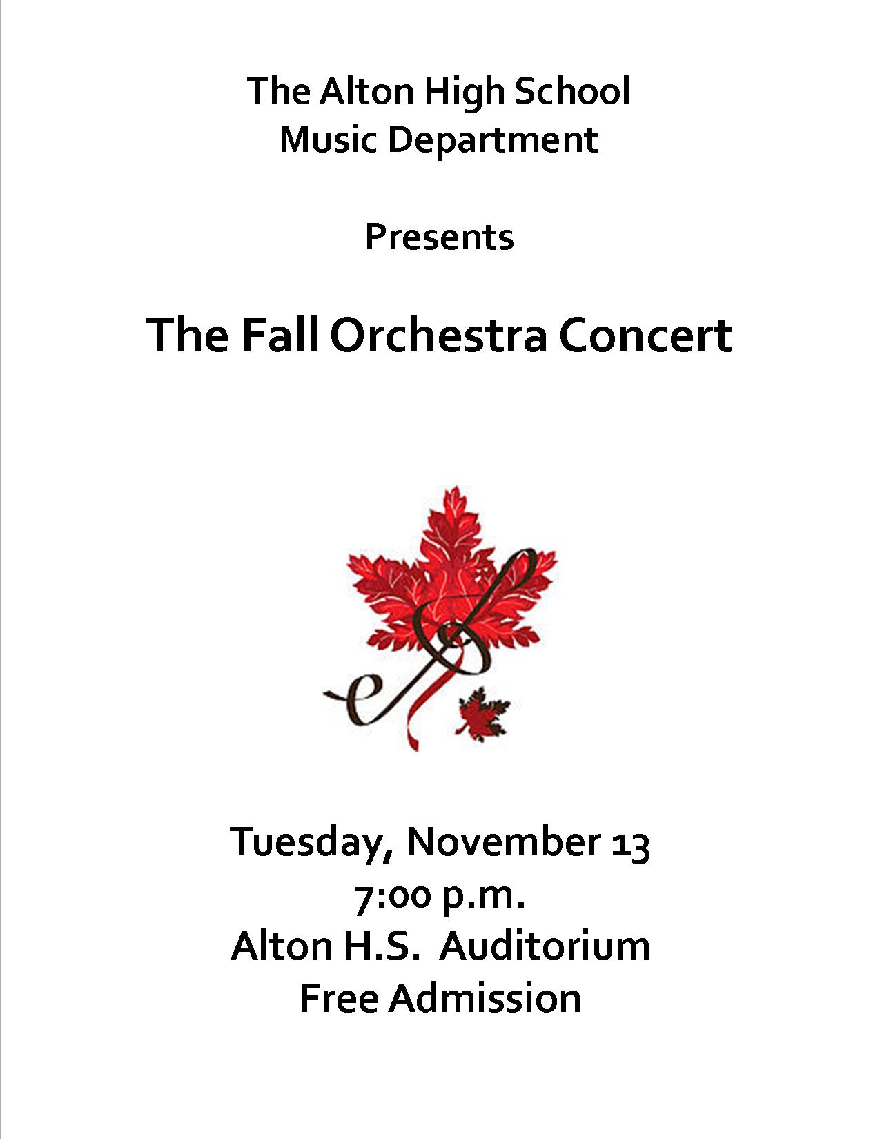 Fall Orchestra Concert Flier